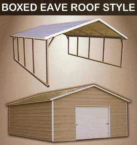 Boxed Eave Metal Carports Boxed Eave Metal Garages
