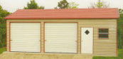 side entry steel garages