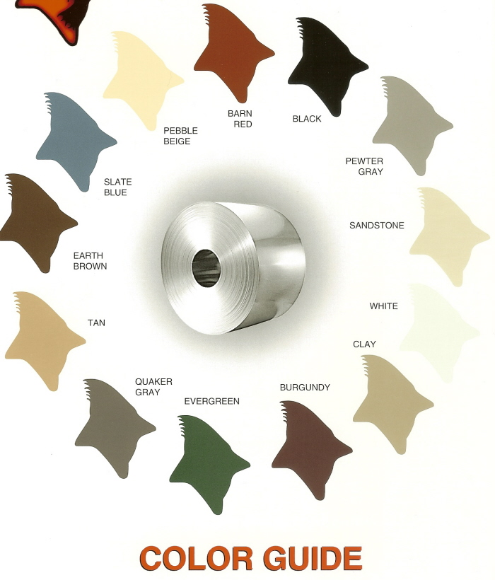 Carports Colors Chart