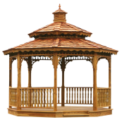 Gazebo Kits, Wood Gazebo Kit, Wooden Gazebos Kits, Amish Built Gazebo Kit