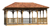 Rectangle Gazebo, Gazebos, Wooden Gazebo, Amish Gazebo