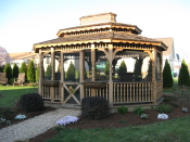 amish built gazebo