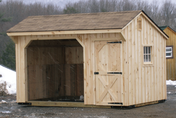 Wood Horse Shelter : Run in sheds horse shelters for horses