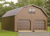 wooden 2 story barn garage