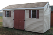 vinyl amish storage buildings