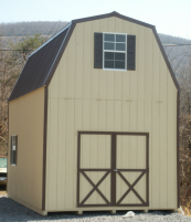 2 Story Sheds | Amish Built Two Story Storage Buildings ...