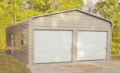 regular style metal garage