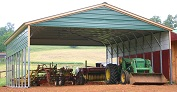 Triple Wide Carports Metal 26 28 30 wide carport