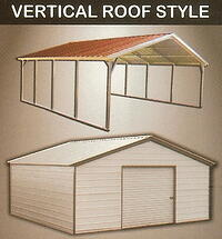 Vertical Metal Carports and Vertical Metal Garages