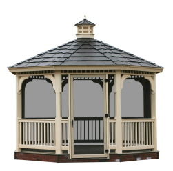 Vinyl Screened Gazebo