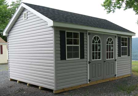 a frame vinyl siding storage building in va