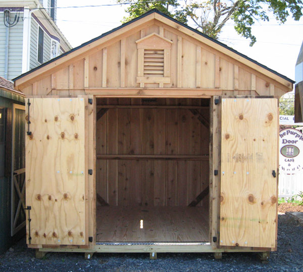 amish built cedar shed