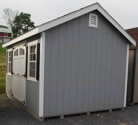 Amish built wood shed in virginia for Wood sheds for sale