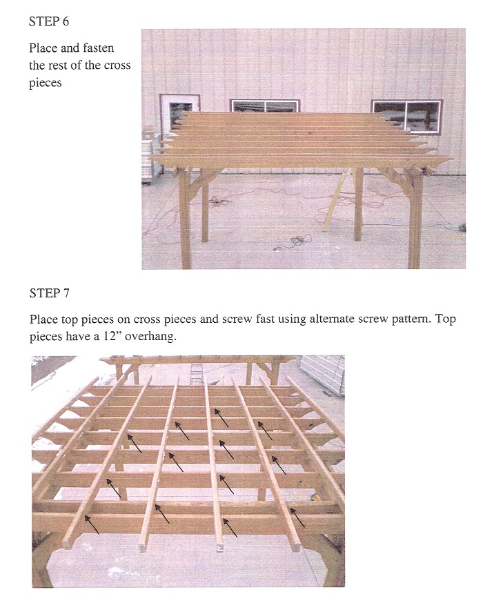 amish pergola kits instructions