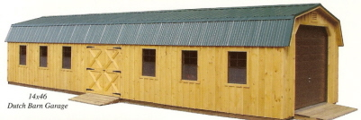 pine board and batten garage