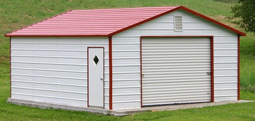 boxed eave metal garages