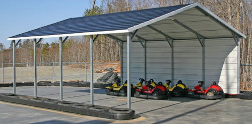 boxed eave style metal carports