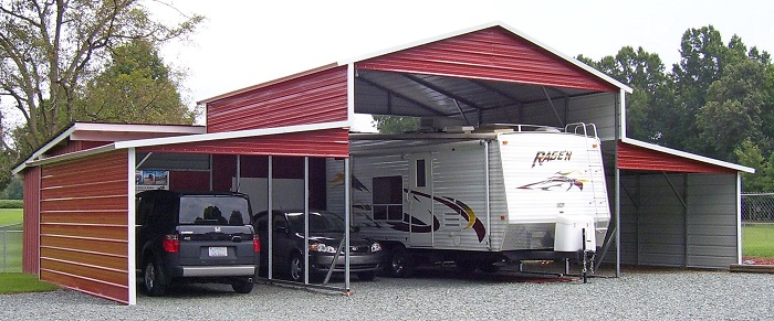 Metal Carport Lean To Shed : Lean to carports buildings alan s factory outlet