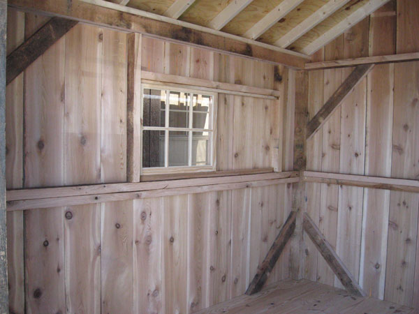 cedar sheds for sale inside look