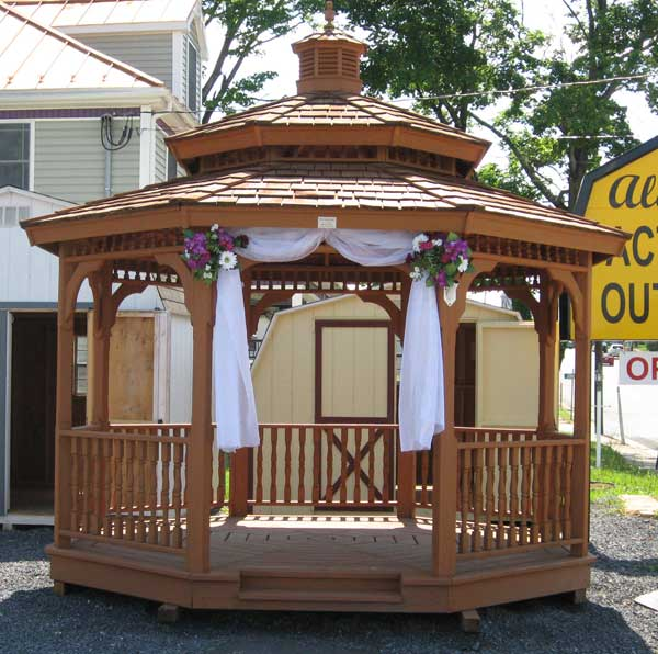 diy kits gazebo double roof wood