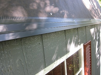 drip edge installed diy shed kit