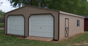 amish prefabricated 2 car garage
