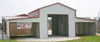 metal carport lean to barn pa