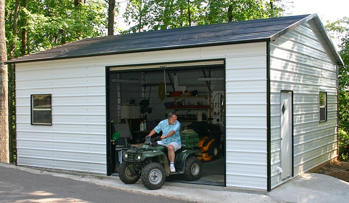 Metal Garages Tennessee Tn Metal Carports For Sale At Alan S Factory Outlet