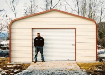 Buy metal garages online get fast delivery and great prices on 18x21 metal garage prices solutioingenieria Image collections