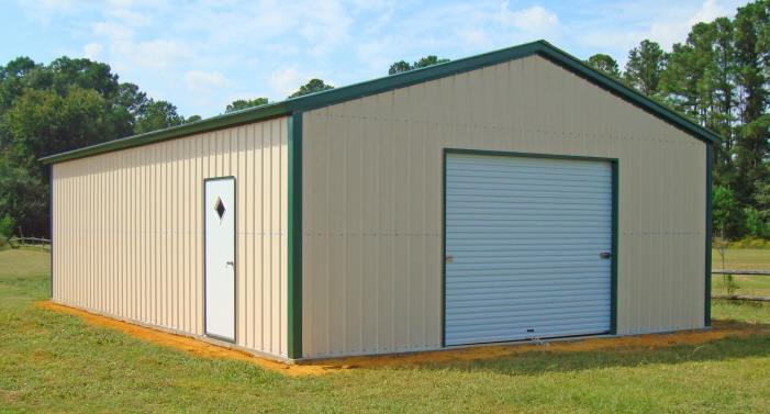 For metal buildings alabama residents look to alan 39 s for Metal barn images
