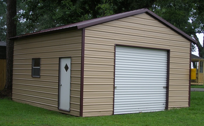 Metal garages la steel garage louisiana for Metal homes louisiana