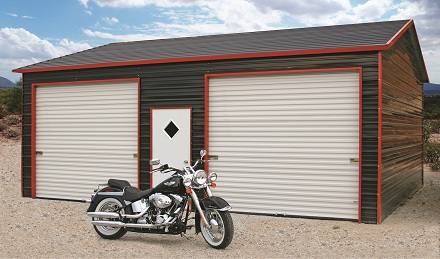 Fully Enclosed Metal Carports Garages