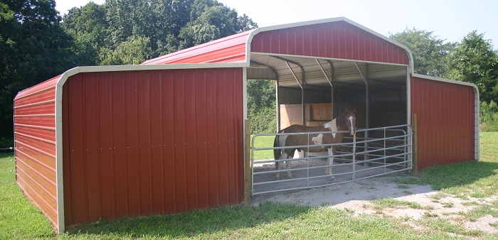 Metal Horse Barns Lean To Building
