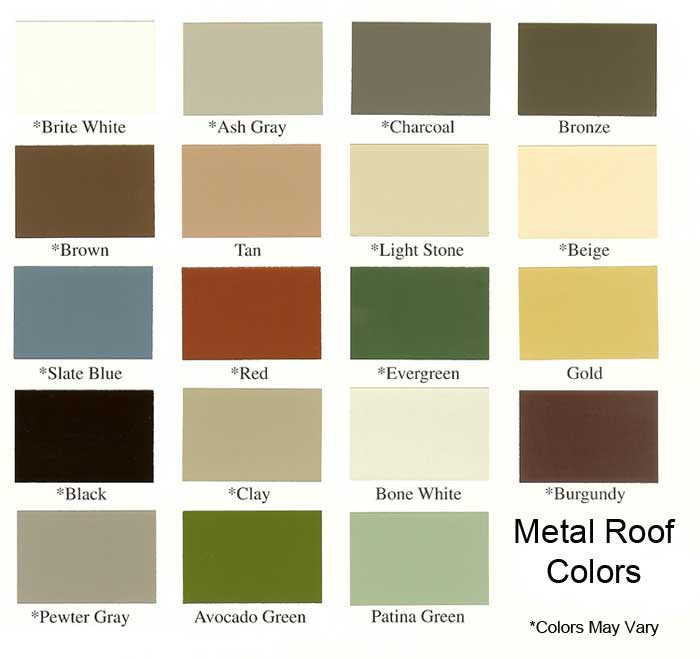 metal roof run in shed colors