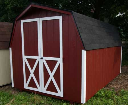 Mini barn wood storage buildings in va for Small portable shed
