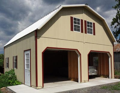 modular 2 story garage  Amish built prefab garages. Prefab Garages in Virginia  Modular Garage at Alan s Factory Outlet