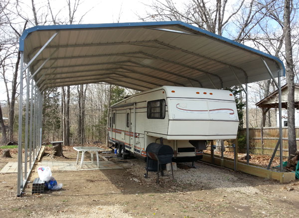 Purchase Metal Carport : Buy rv metal carports to protect your mobile home great