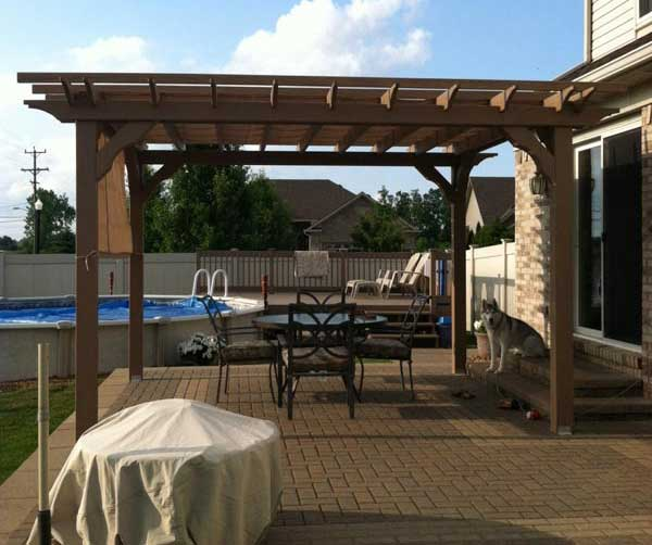 Captivating Pergola Kit Wood