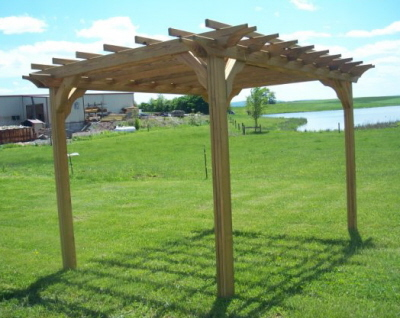 This makes our wood pergolas a great weekend project. It only takes a few  hours to improve your garden with one of our wood pergola structures. - Pergolas Wood Pergolas Wooden Pergola Alan's Factory Outlet