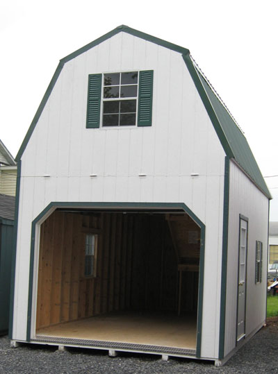 Prefab 2 story sheds for 20x20 garage with loft