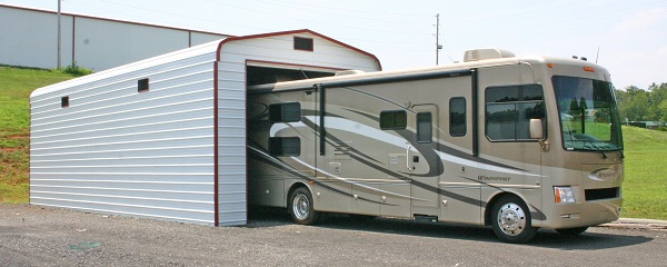 Great prices on metal rv covers customize an rv carport and rv fully enclosed carport motorhome metal garage solutioingenieria Gallery