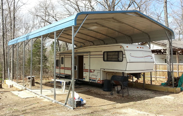 Rv shelter regular metal rv carport for Rv shed ideas