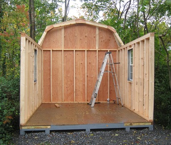 Shed kits wood shed kits in va wv alans factory outlet shed kit side walls put in place solutioingenieria Images
