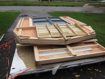 shed kits flat for delivery