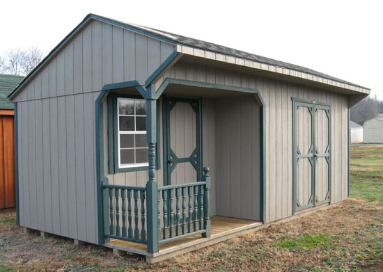 shed with porch - Garden Sheds Virginia