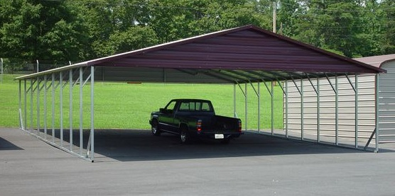 Triple wide carports partially fully enclosed carports for Triple carport prices