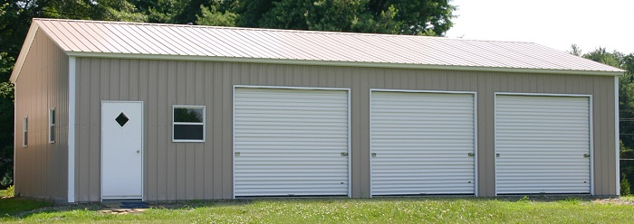 Fully Enclosed Carports : Triple wide carports partially fully enclosed