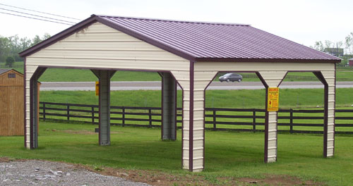 vertical metal roof carports