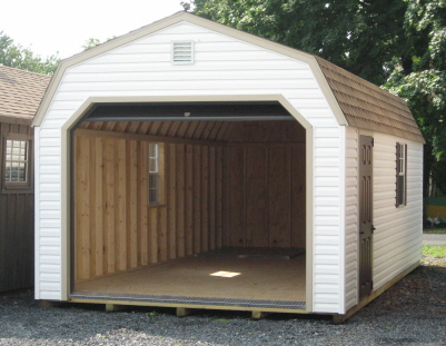 fully assembled vinyl garages