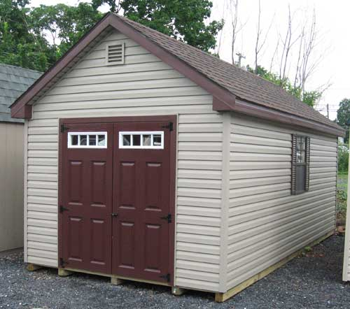 ... And Storage Sheds Come With Two 2u0027x3u0027 Windows With Shutters. The Sturdy  Build Of Our Vinyl Storage Buildings Means That All Of Your Stored Goods  Will Be ...